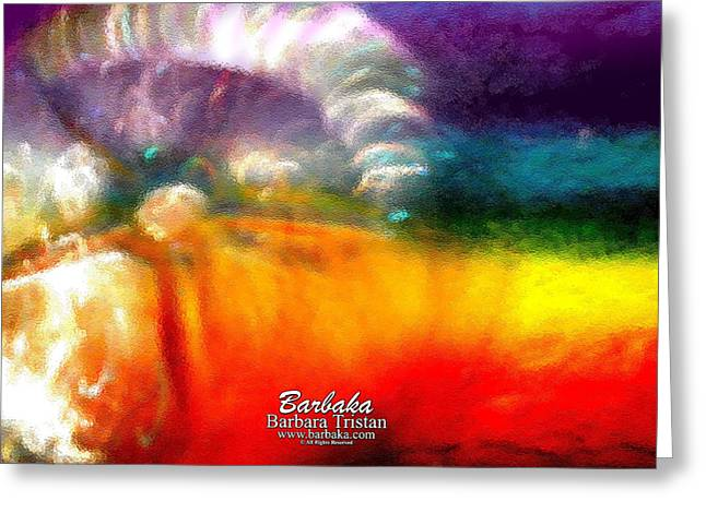 Greeting Card featuring the photograph Rainbow Bliss #052833_ii by Barbara Tristan