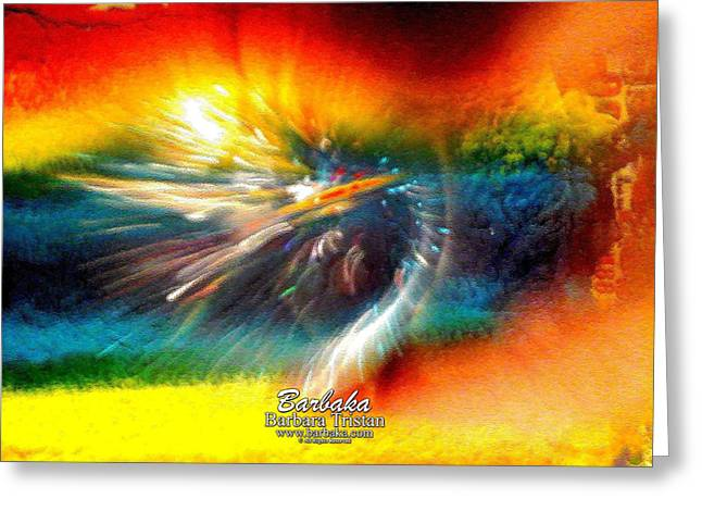 Greeting Card featuring the photograph Rainbow Bliss #053329 by Barbara Tristan