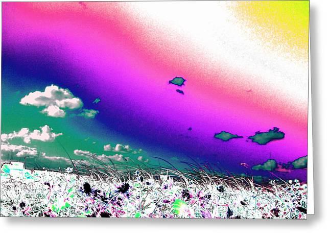 Rainbow Borealis Greeting Card