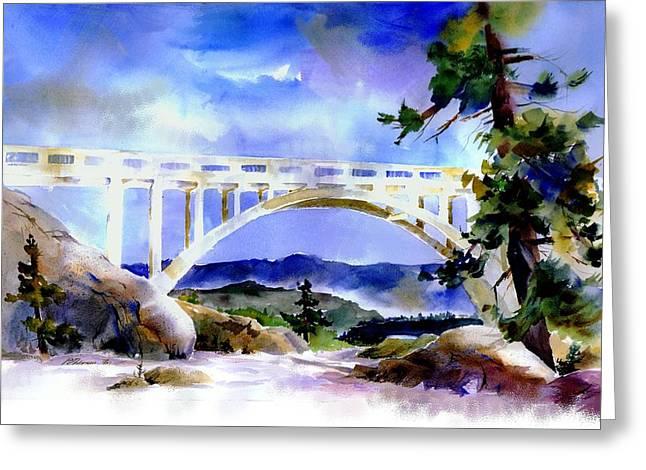 Rainbow Bridge Above Donnerlk#2 Greeting Card