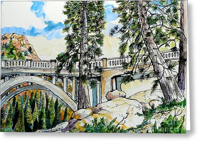 Rainbow Bridge At Donner Summit Greeting Card