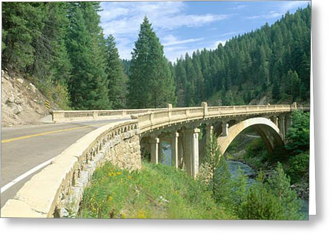 Rainbow Bridge, Highway 55, Payette Greeting Card by Panoramic Images