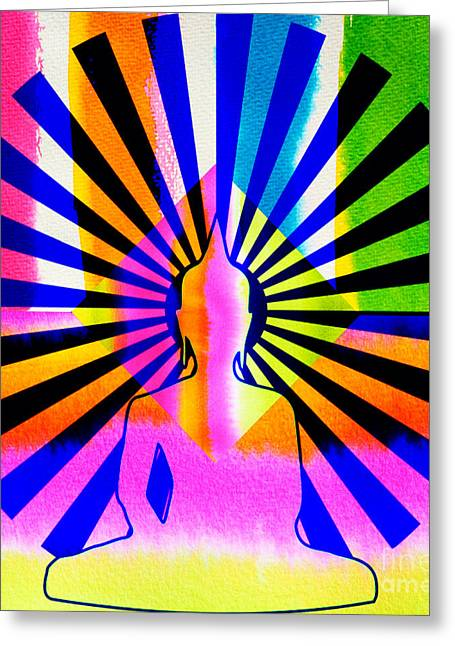 Rainbow Buddha Greeting Card
