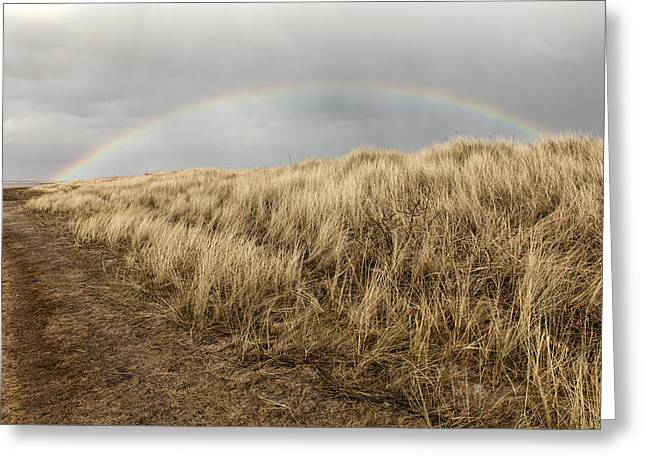 Rainbow By The Seaside Greeting Card
