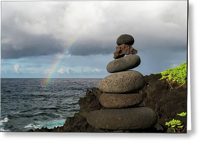 Rainbow Cairn Greeting Card