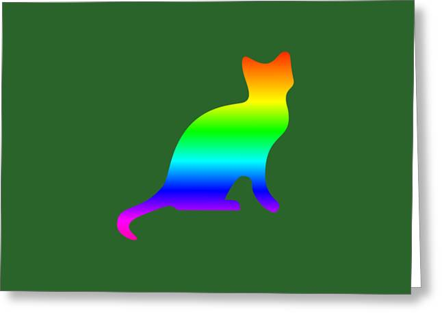 Rainbow Cat Greeting Card by Frederick Holiday