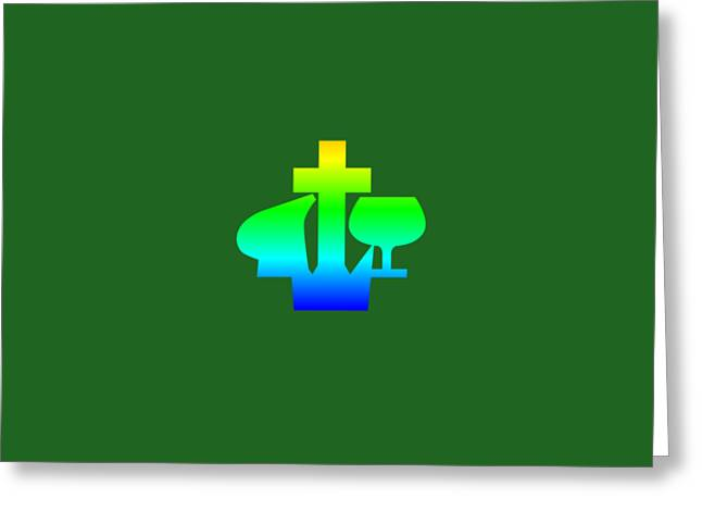 Rainbow Christian And Missionary Alliance Symbol Greeting Card by Frederick Holiday