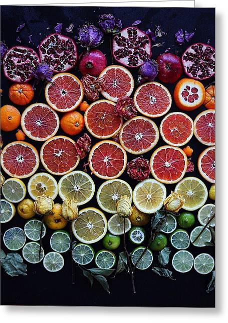 Rainbow Citrus Etc Greeting Card