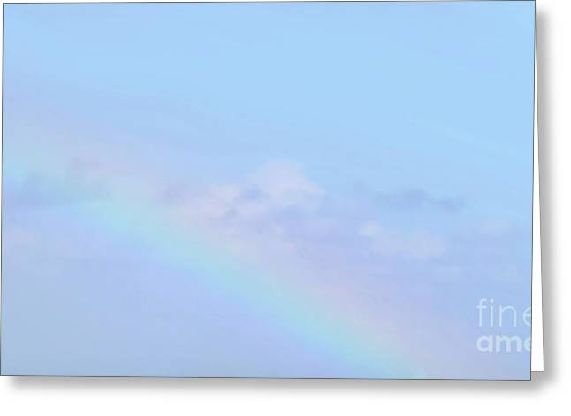 Greeting Card featuring the digital art Rainbow Clouds And Sky by Francesca Mackenney