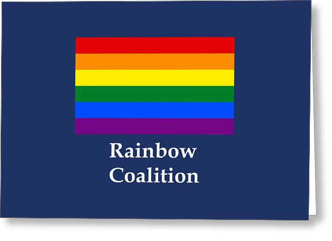 Rainbow Coalition Flag Greeting Card by Frederick Holiday