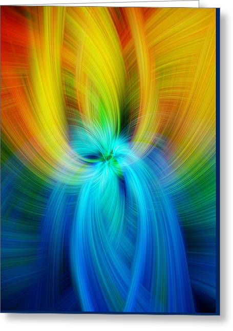 Rainbow Colored Abstract. Concept Humane Idealism  Greeting Card