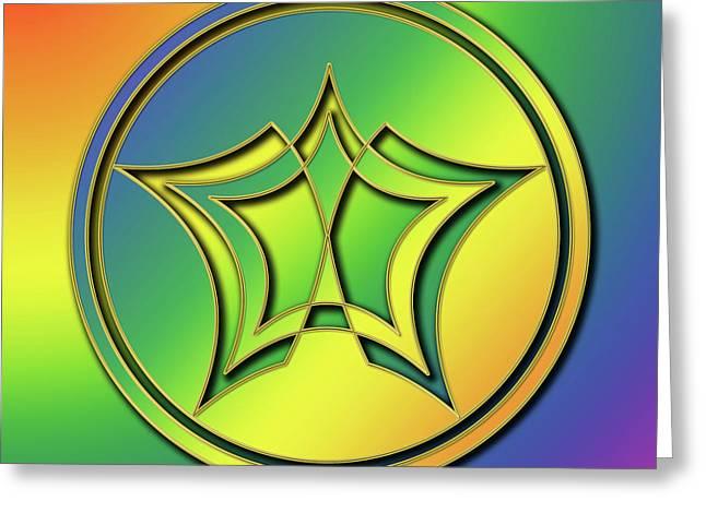 Rainbow Design 1 Greeting Card