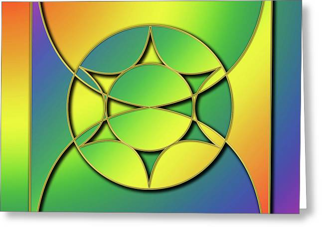 Greeting Card featuring the digital art Rainbow Design 3 by Chuck Staley