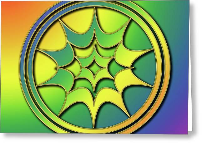 Rainbow Design 5 Greeting Card