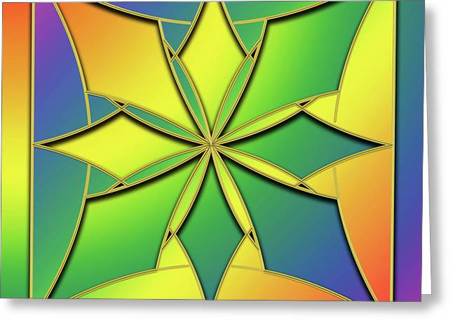 Greeting Card featuring the digital art Rainbow Design 8 by Chuck Staley