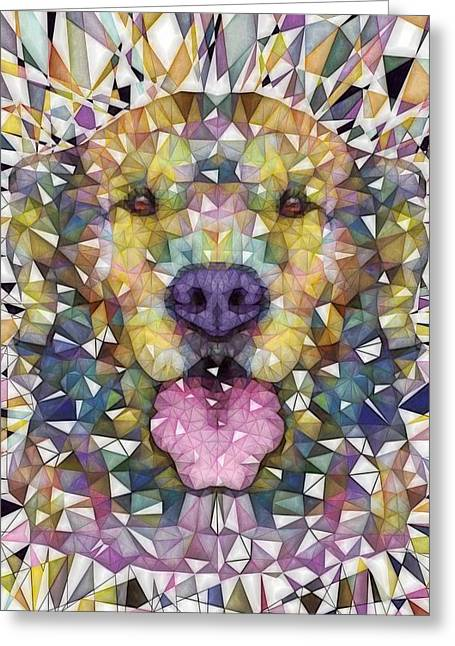 Puppies Digital Greeting Cards - Rainbow Dog Greeting Card by Ancello