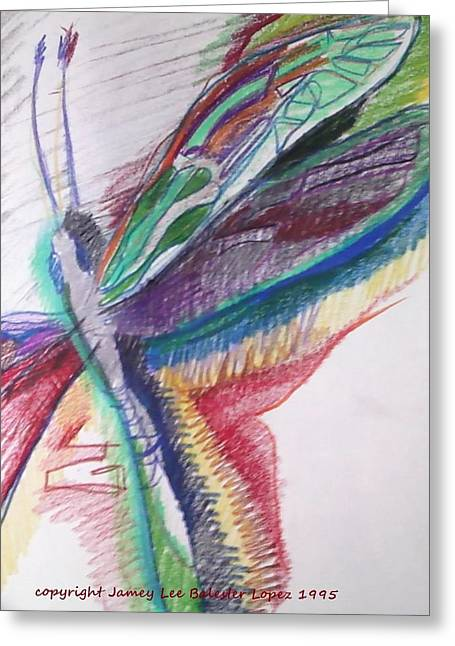 Rainbow Dragonfly Greeting Card by Jamey Balester