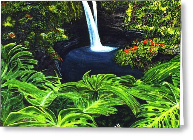 Rainbow Falls #83 Greeting Card by Donald k Hall