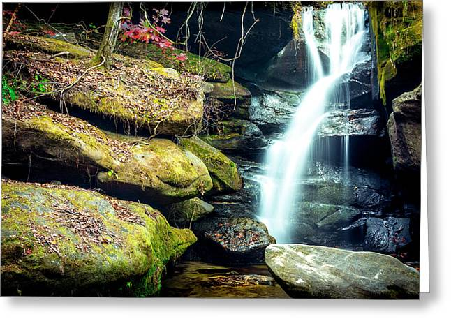 Rainbow Falls At Dismals Canyon Greeting Card by David Morefield