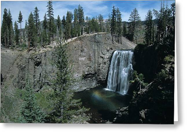 Rainbow Falls California Greeting Card