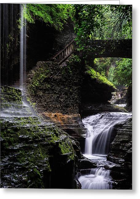 Greeting Card featuring the photograph Rainbow Falls by Edgars Erglis