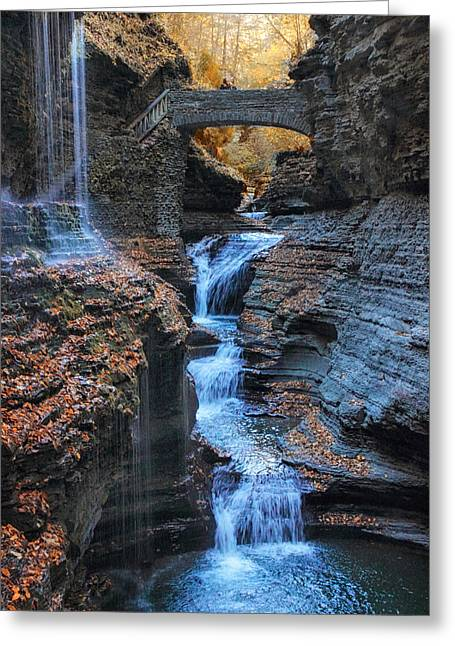 Rainbow Falls Greeting Card by Jessica Jenney
