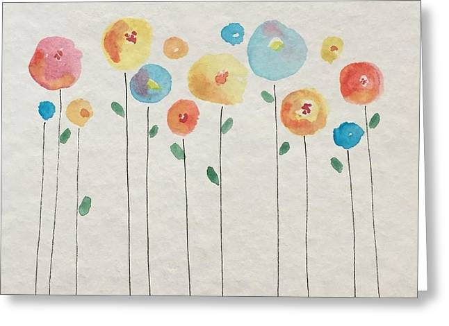 Rainbow Floral Greeting Card