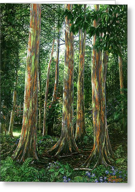 Rainbow Forest Greeting Card by Doug Kreuger