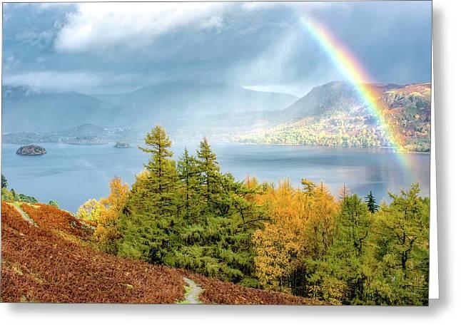 Rainbow Gold Greeting Card