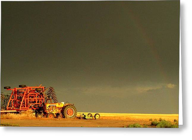 Rainbow Harvest.. Greeting Card by Al  Swasey
