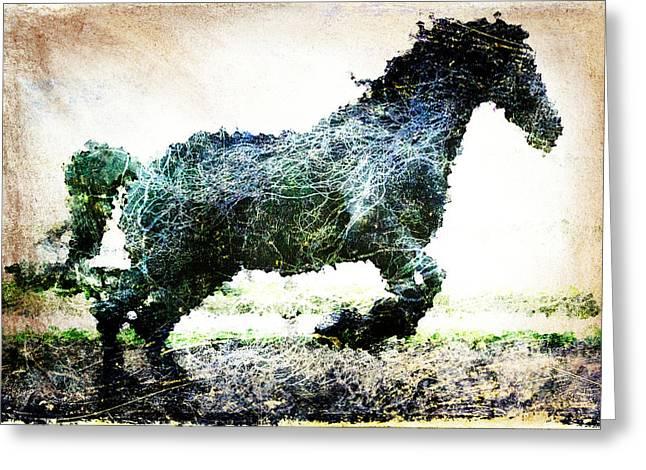 Rainbow Horse Greeting Card by Andrea Barbieri