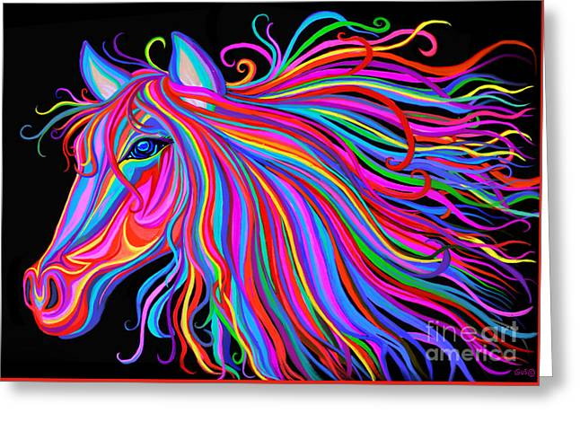 Rainbow Horse  Greeting Card