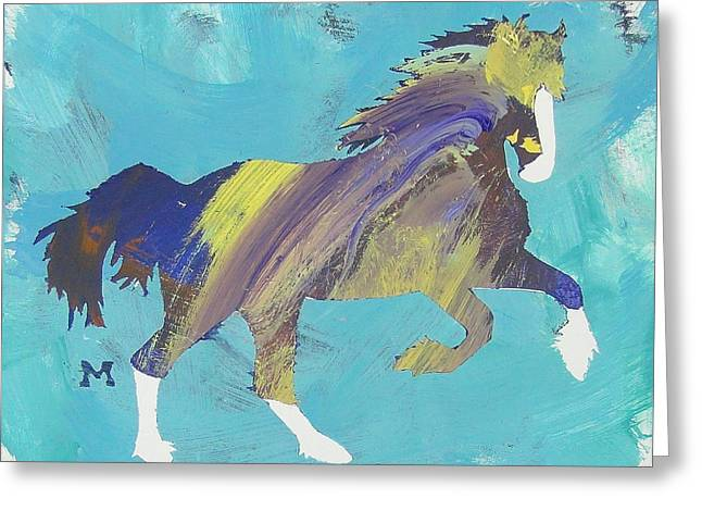 Rainbow Horse Greeting Card