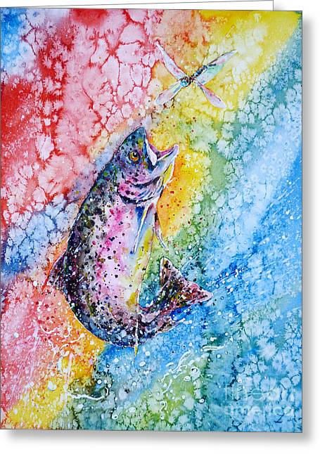 Rainbow Hunter Greeting Card by Zaira Dzhaubaeva