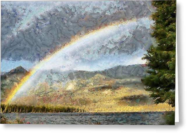 Rainbow - Id 16217-152026-0424 Greeting Card by S Lurk