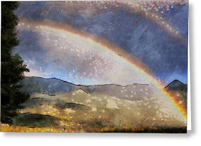 Rainbow - Id 16217-152029-1097 Greeting Card by S Lurk