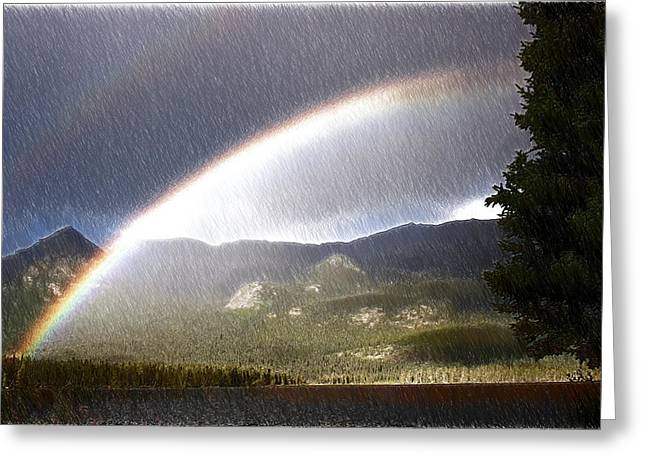 Rainbow - Id 16217-152040-8233 Greeting Card by S Lurk