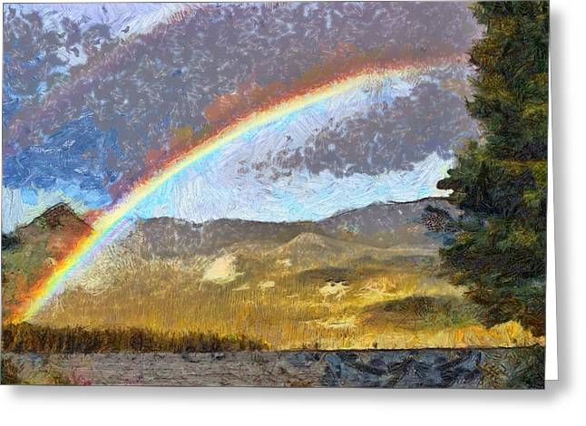 Rainbow - Id 16217-152046-6654 Greeting Card by S Lurk