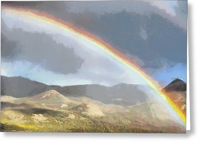 Rainbow - Id 16217-152048-5290 Greeting Card by S Lurk
