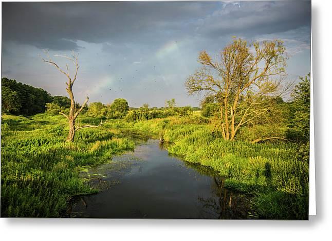 Greeting Card featuring the photograph Rainbow by Jaroslaw Grudzinski
