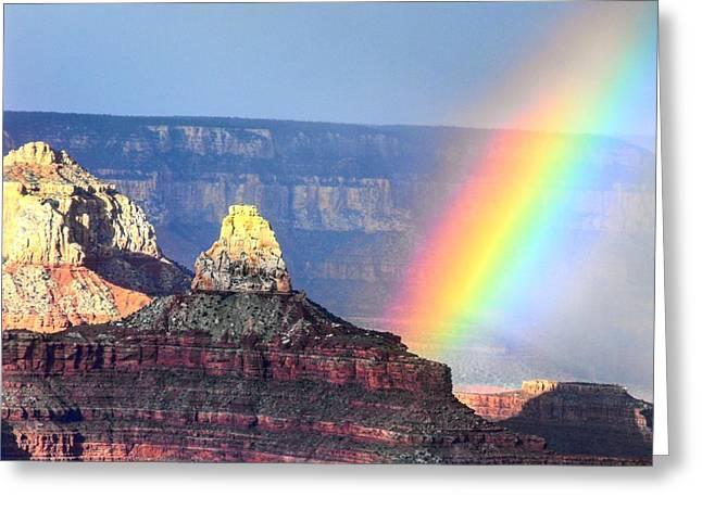 Rainbow Kisses The Grand Canyon Greeting Card