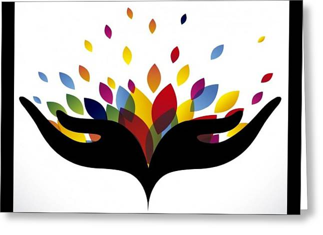 Rainbow Leaves Greeting Card