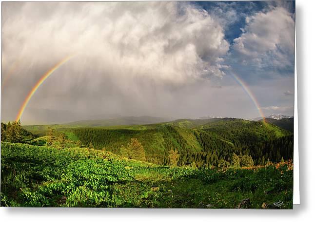 Rainbow Light And Form Greeting Card