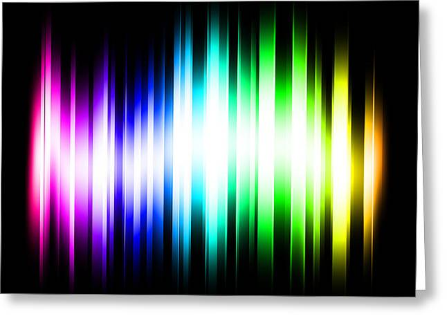 Rainbow Light Rays Greeting Card by Michael Tompsett