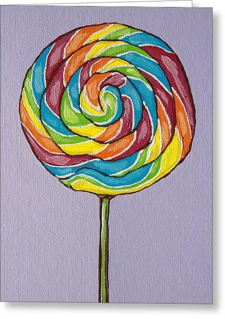 Rainbow Lollipop Greeting Card