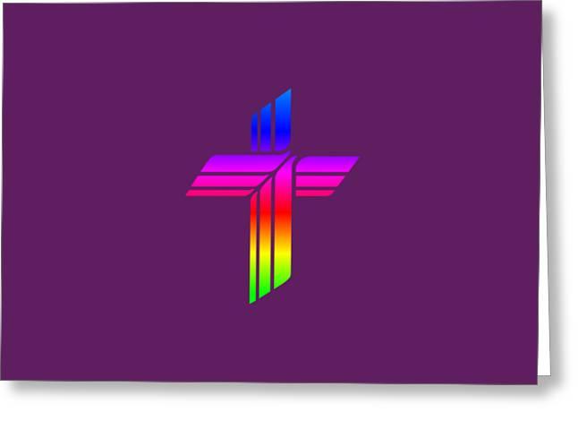 Rainbow Lutheran Church Missouri Synod Symbol Greeting Card by Frederick Holiday