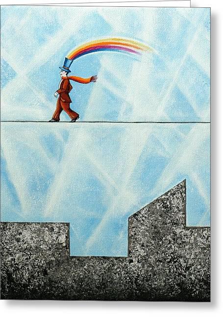Rainbow Man Greeting Card by Graciela Bello