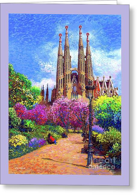 Sagrada Familia And Park,barcelona Greeting Card by Jane Small