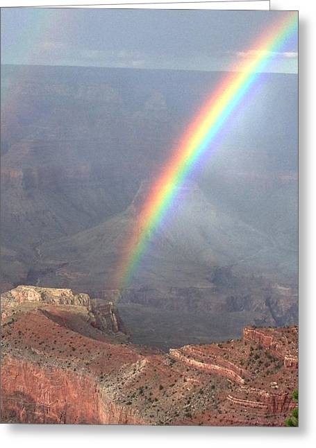 Rainbow Meets Mather Point Greeting Card