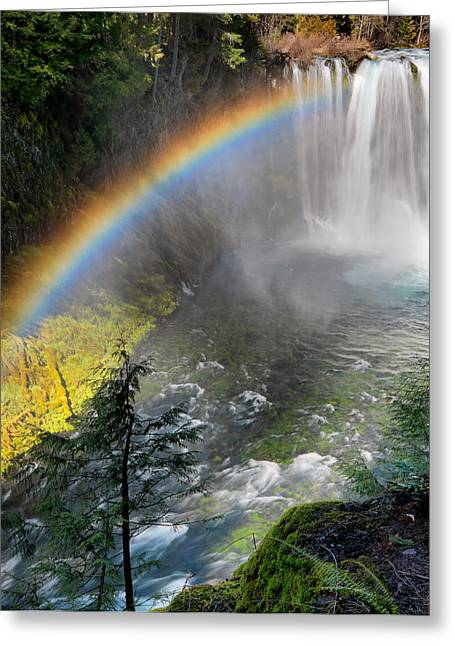 Rainbow Mist Greeting Card by Leland D Howard
